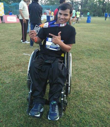 tekerlekli sandalye maratonu Shailesh Kumar
